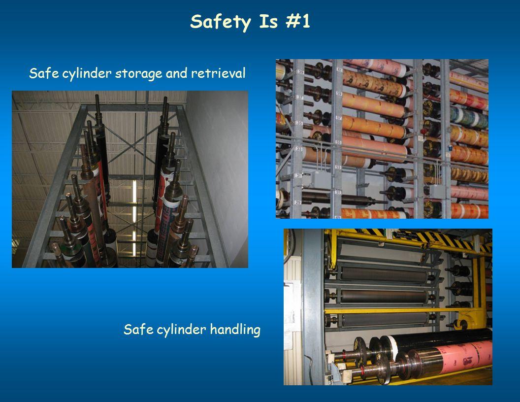 Safety Is #1 Safe cylinder storage and retrieval Safe cylinder handling