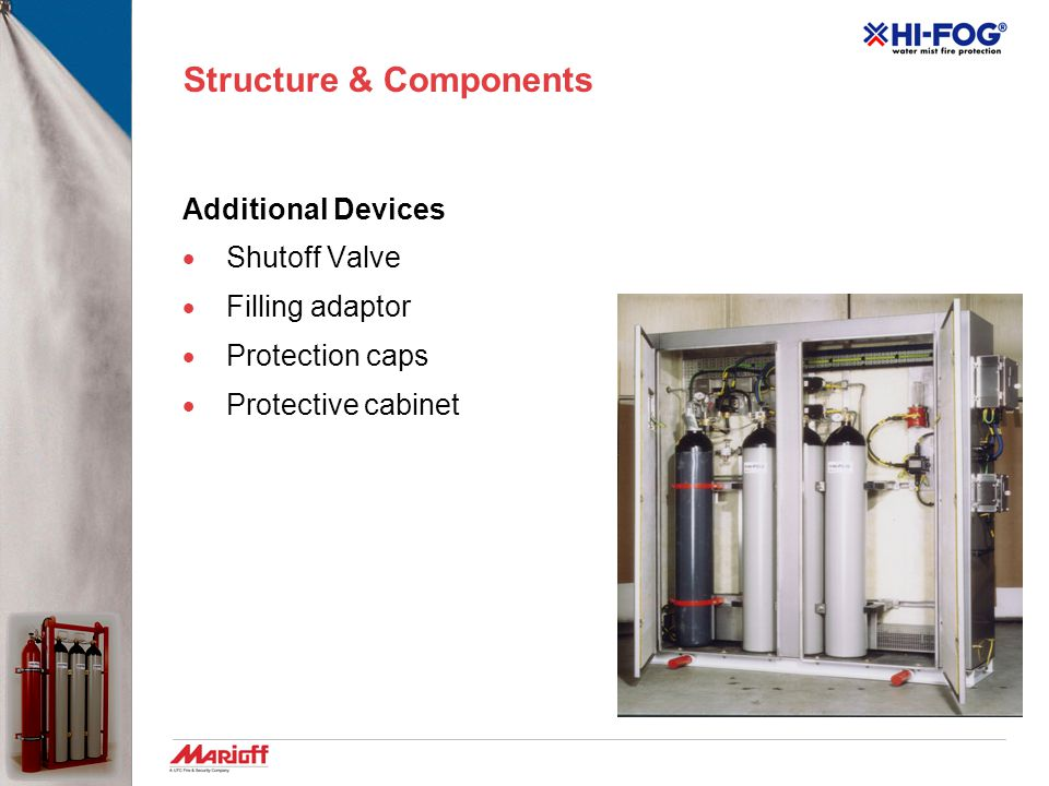 Structure & Components Monitoring Devices  Water Level- visual indicator  Water Level- electric switch