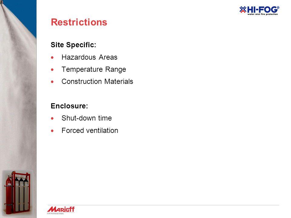 System Design Sample Accumulator Unit & Piping Network No. 2  Application: generator room  Dimensions: 7 m (L)  6 m (W)  5 m (H)  Fire hazard: ge