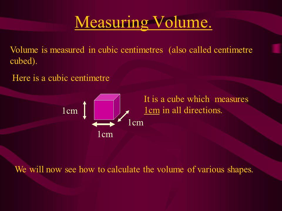 Volumes Of Cuboids.