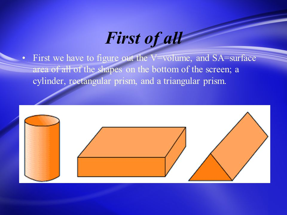 Formula of the Cylinder A Cylinder is a three- dimensions shape with two opposite faces that are congruent circles.
