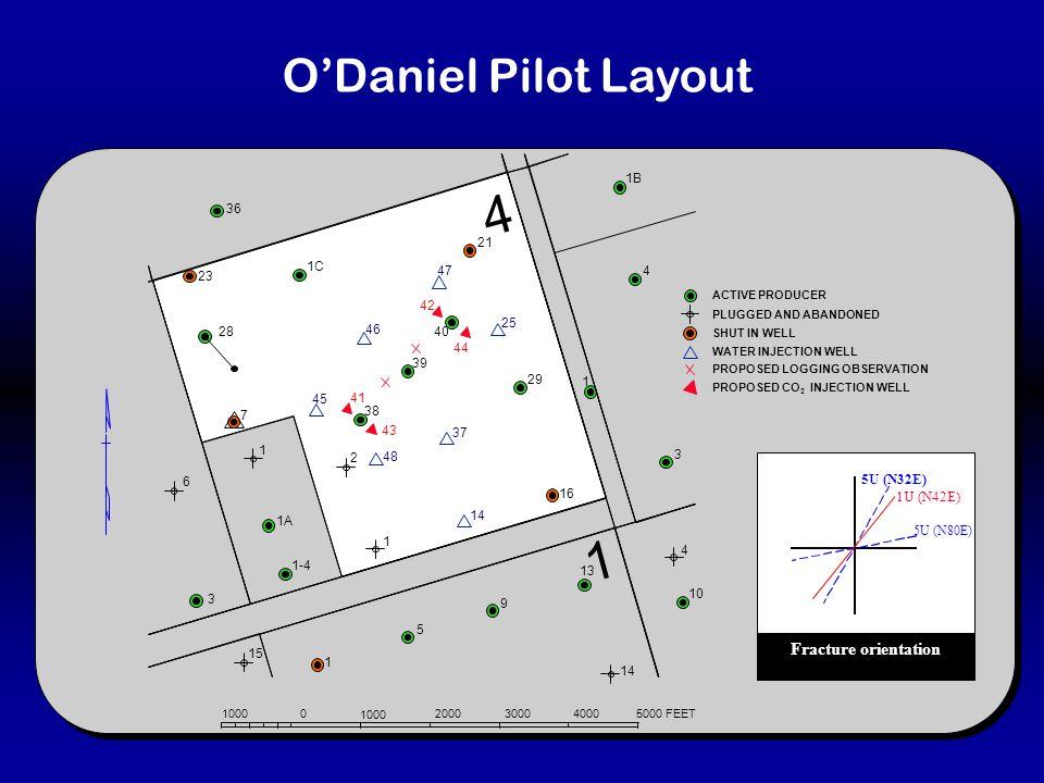 5U (N32E) 5U (N80E) 1U (N42E) Fracture orientation O'Daniel Pilot Layout