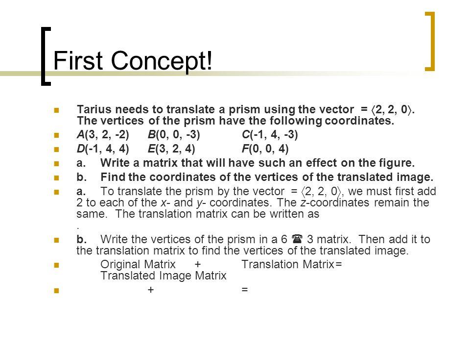 Second Concept cube: 6 faces, 4 corners; slides rectangular prism: 6 faces, 4 corners; slides pyramid: 5 faces, 5 corners; slides cylinder: 2 faces, no corners; rolls; slides cone: 1 face, 0 corners (It has a point.) rolls, slides sphere: 0 faces, 0 corners; rolls