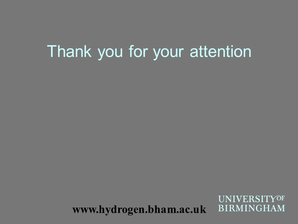 Thank you for your attention www.hydrogen.bham.ac.uk