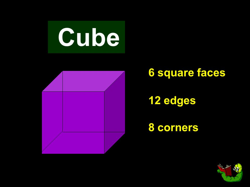 Cube 6 square faces 12 edges 8 corners