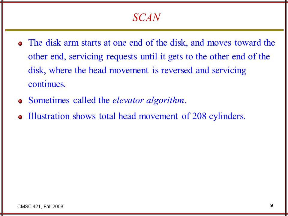 CMSC 421, Fall 2008 20 4.3 BSD Data-Segment Swap Map