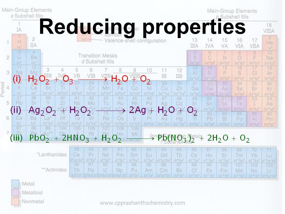Reducing properties