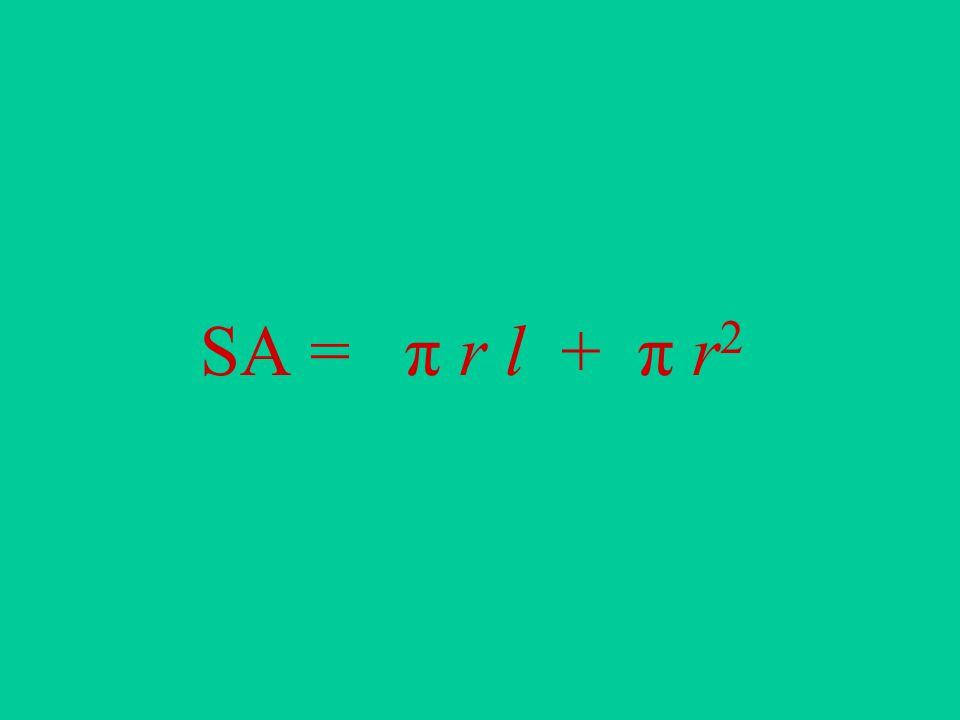 SA = π r l + π r 2