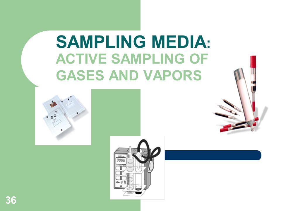 36 SAMPLING MEDIA : ACTIVE SAMPLING OF GASES AND VAPORS