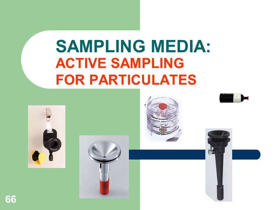 66 SAMPLING MEDIA: ACTIVE SAMPLING FOR PARTICULATES
