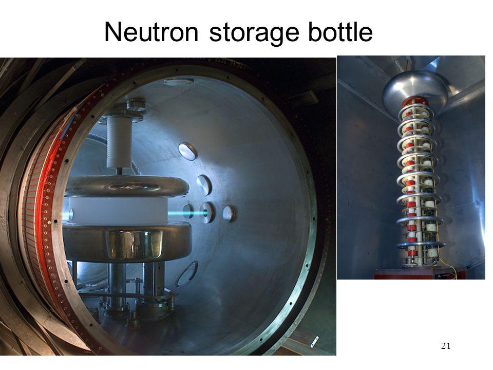 21 Neutron storage bottle