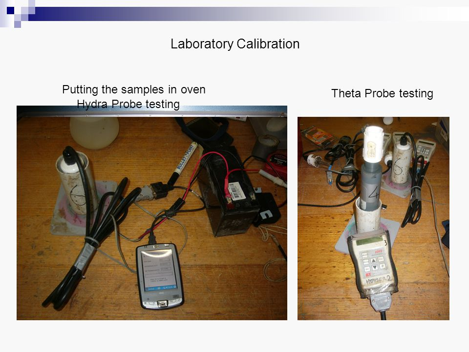 Laboratory Calibration Weighing of the sample