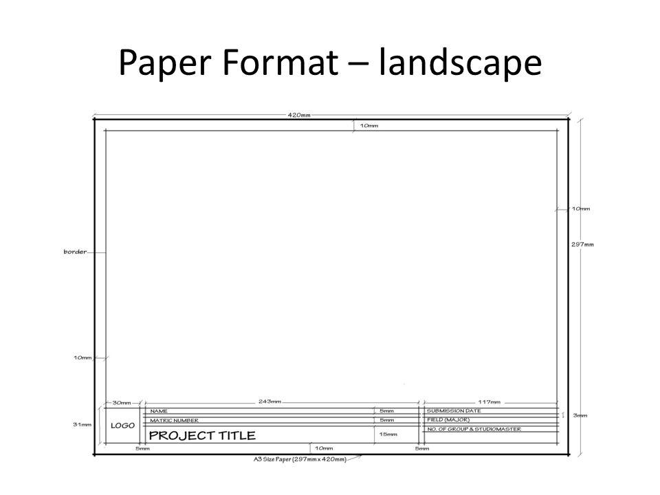 Paper Format – landscape