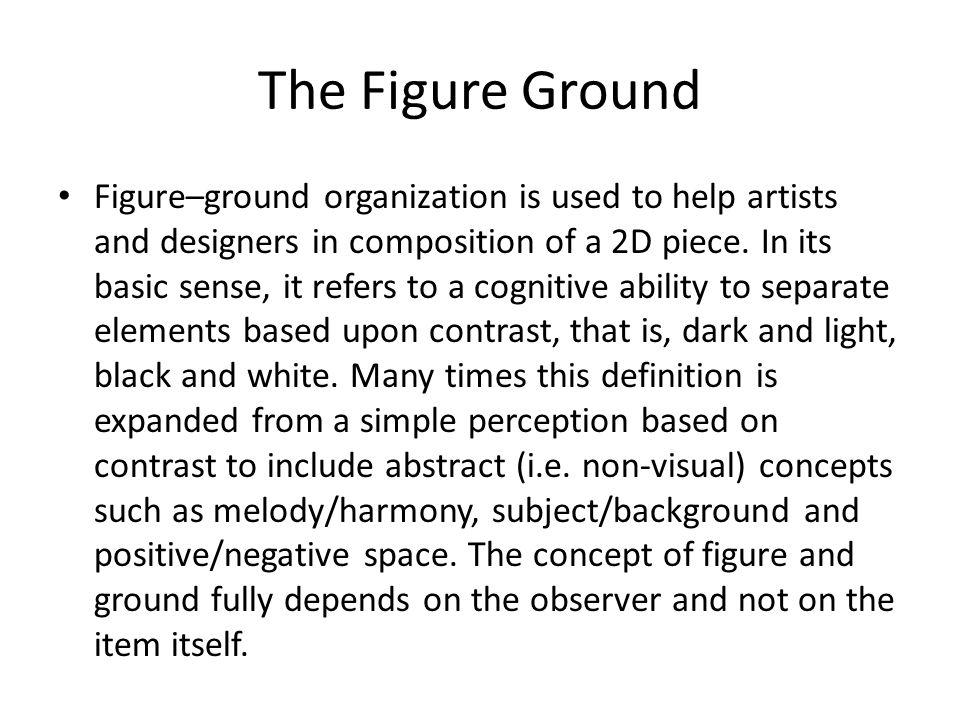 The Figure Ground