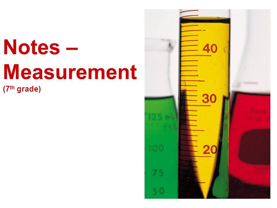 Notes – Measurement (7 th grade)