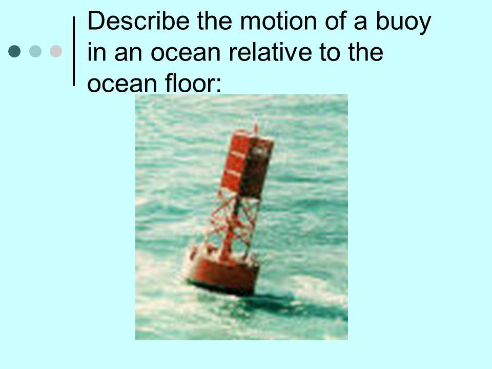 Describe the motion of a buoy in an ocean relative to the ocean floor: