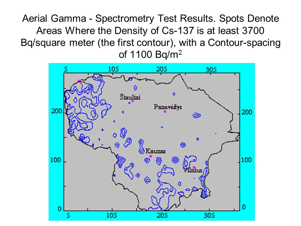 Aerial Gamma - Spectrometry Test Results.