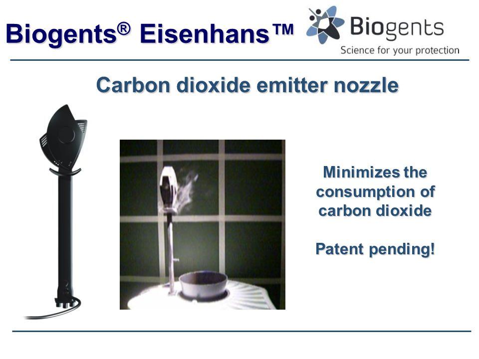 Biogents ® Eisenhans™ Carbon dioxide emitter nozzle Minimizes the consumption of carbon dioxide Patent pending!
