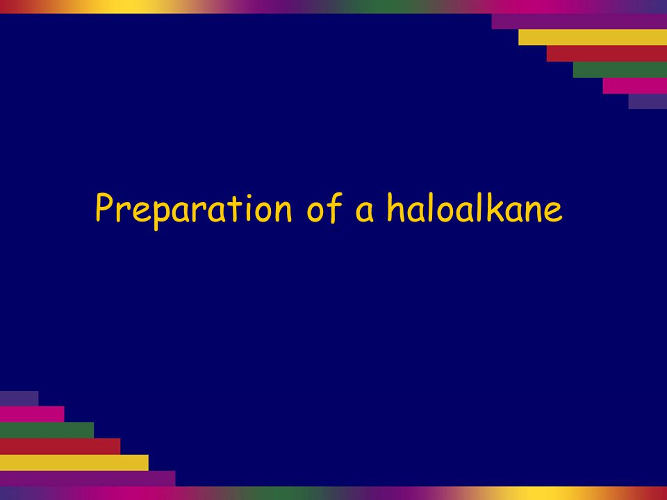 Haloalkanes can be made by a substitution reaction with an alcohol.