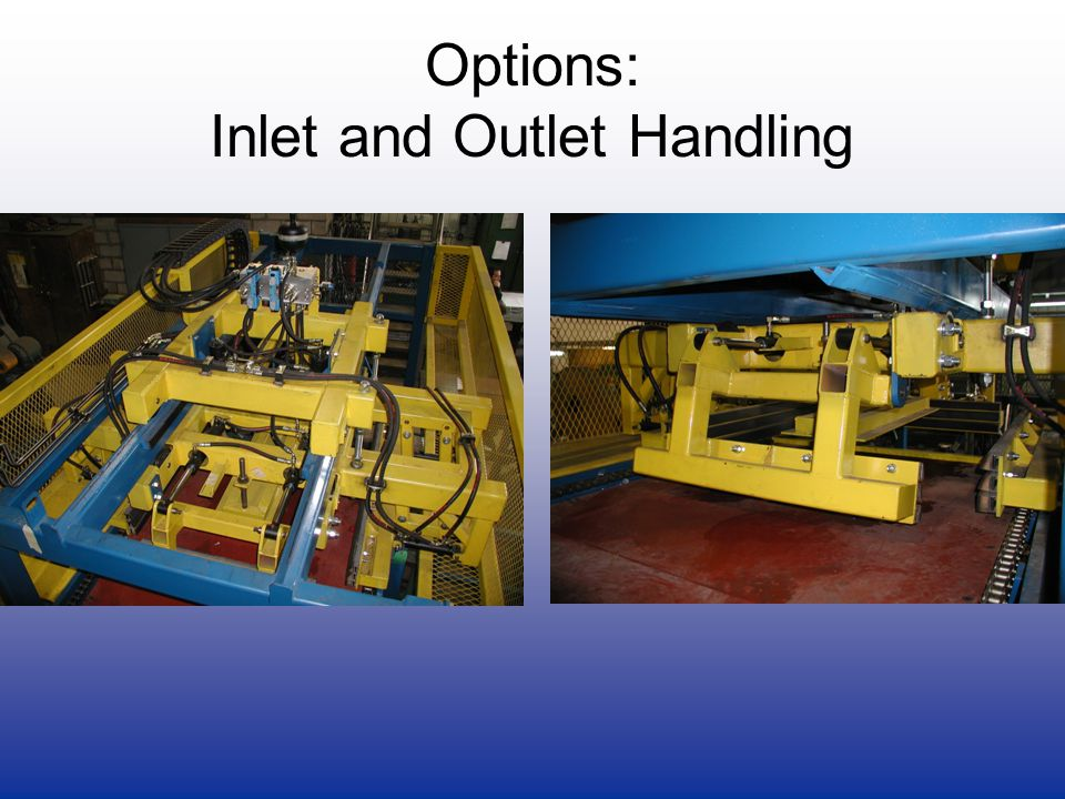 Options: Inlet and Outlet Handling