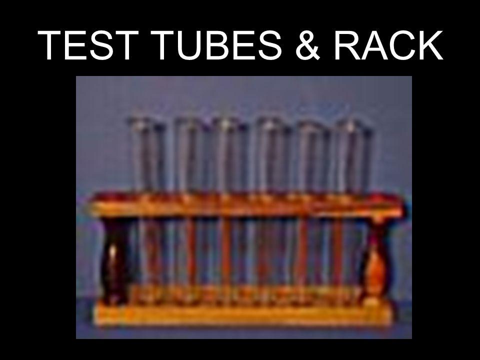 TEST TUBES & RACK