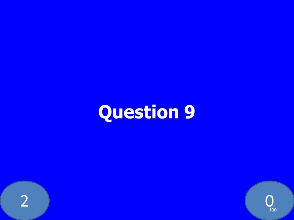 20 Question 9 100