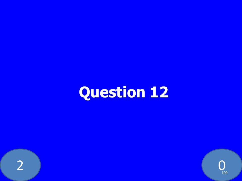 20 Question 12 109