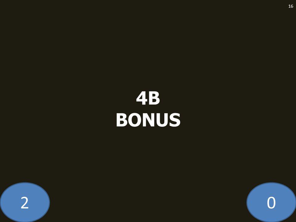 20 4B BONUS 16