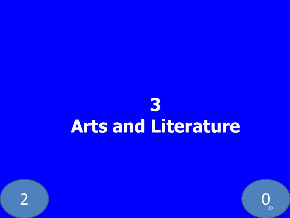 20 3 Arts and Literature 20
