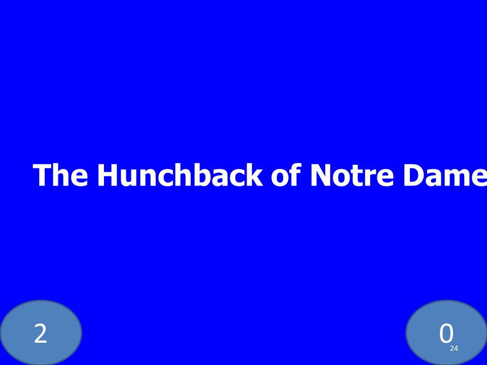20 The Hunchback of Notre Dame 24