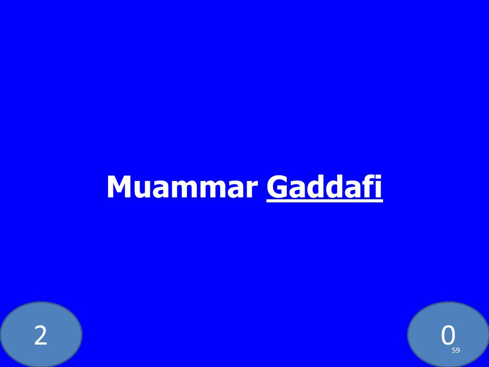 20 Muammar Gaddafi 59