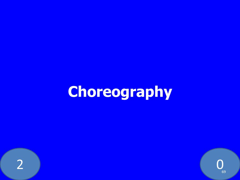 20 Choreography 69