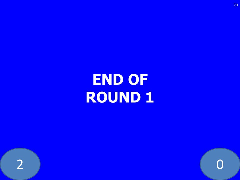 20 END OF ROUND 1 70
