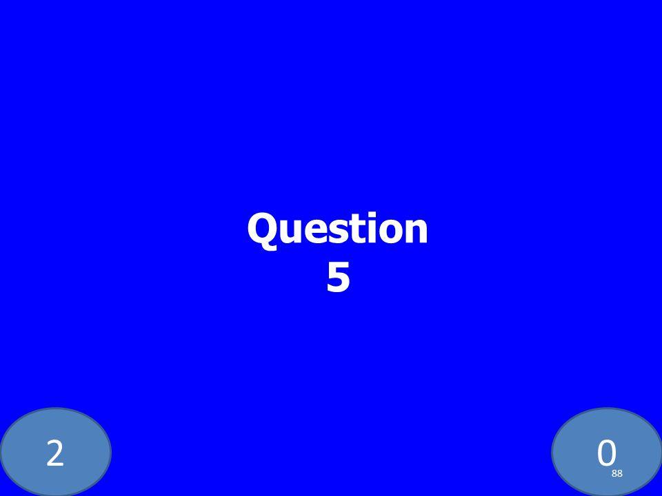 20 Question 5 88