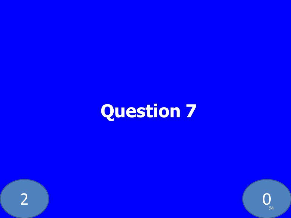 20 Question 7 94