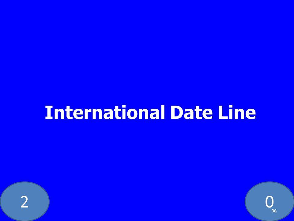 20 International Date Line 96