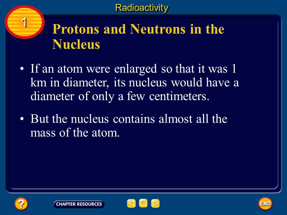 Protons and Neutrons in the Nucleus Protons and neutrons are packed together tightly in a nucleus.