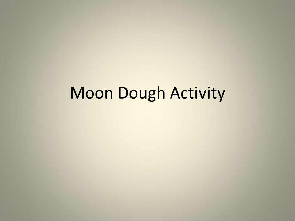Moon Dough Activity