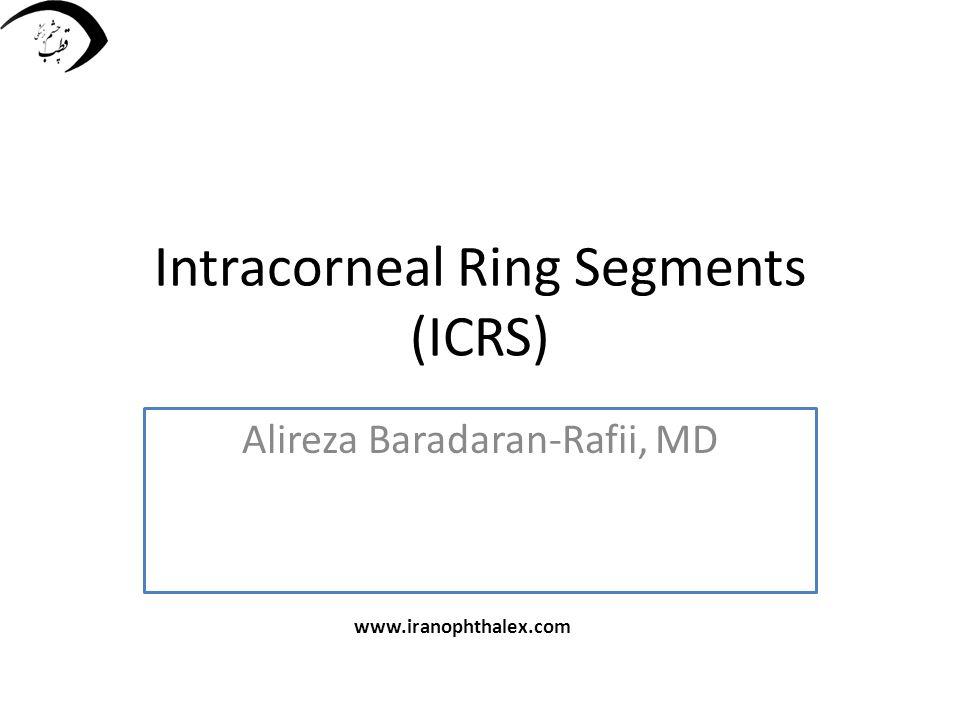 Intracorneal Ring Segments (ICRS) Alireza Baradaran-Rafii, MD www.iranophthalex.com