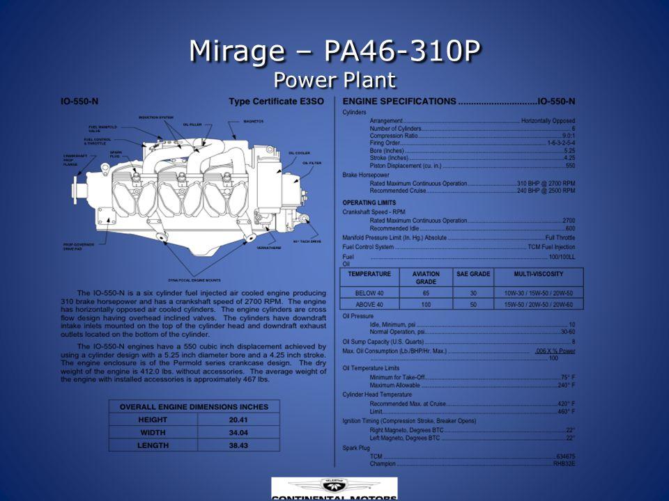 Mirage – PA46-310P Power Plant