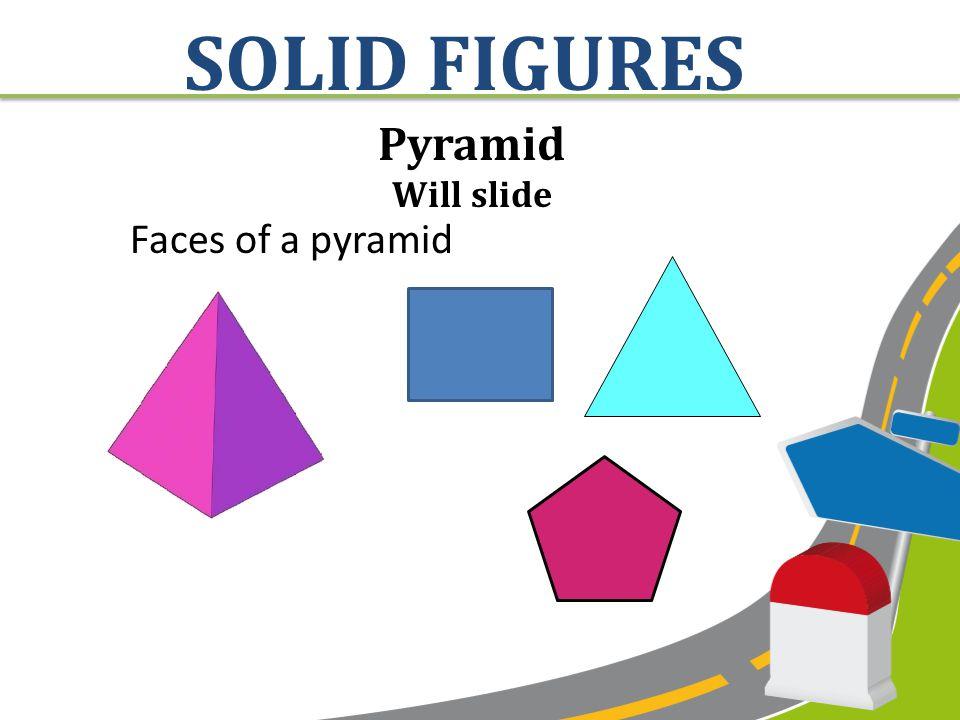 Cylinder Will roll, stack, and slide Faces of a cylinder SOLID FIGURES