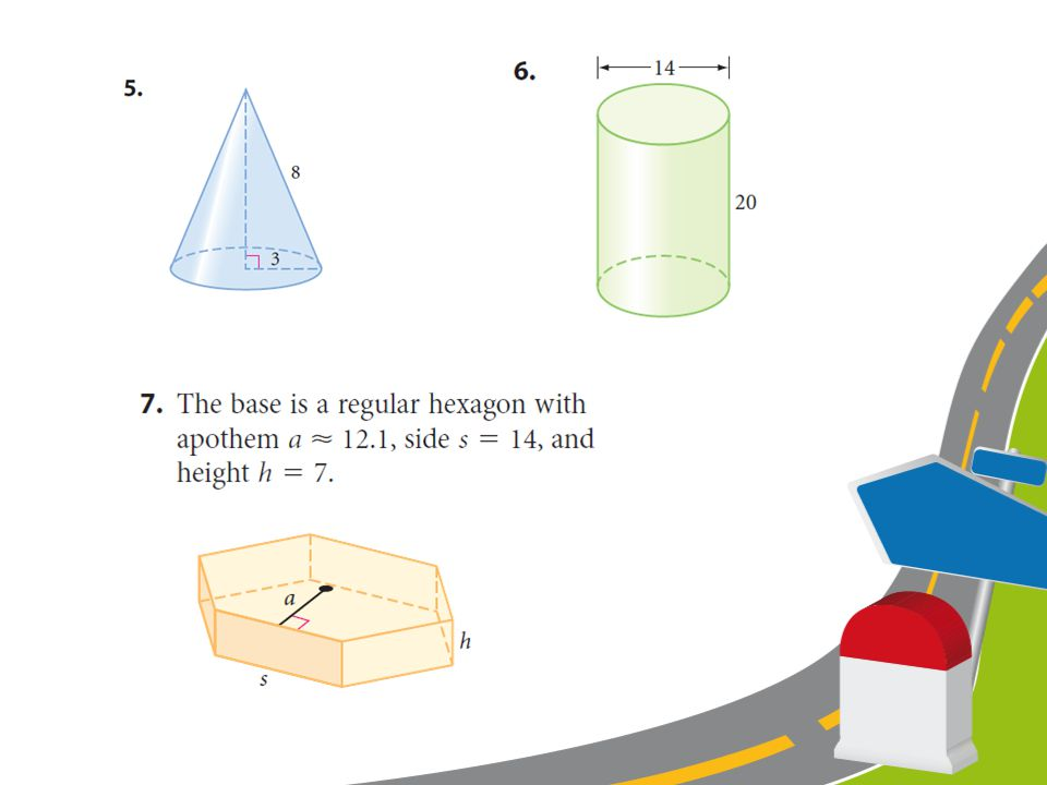 CLASS WORK Find the surface area of each solid. All given measurements are in centimeters