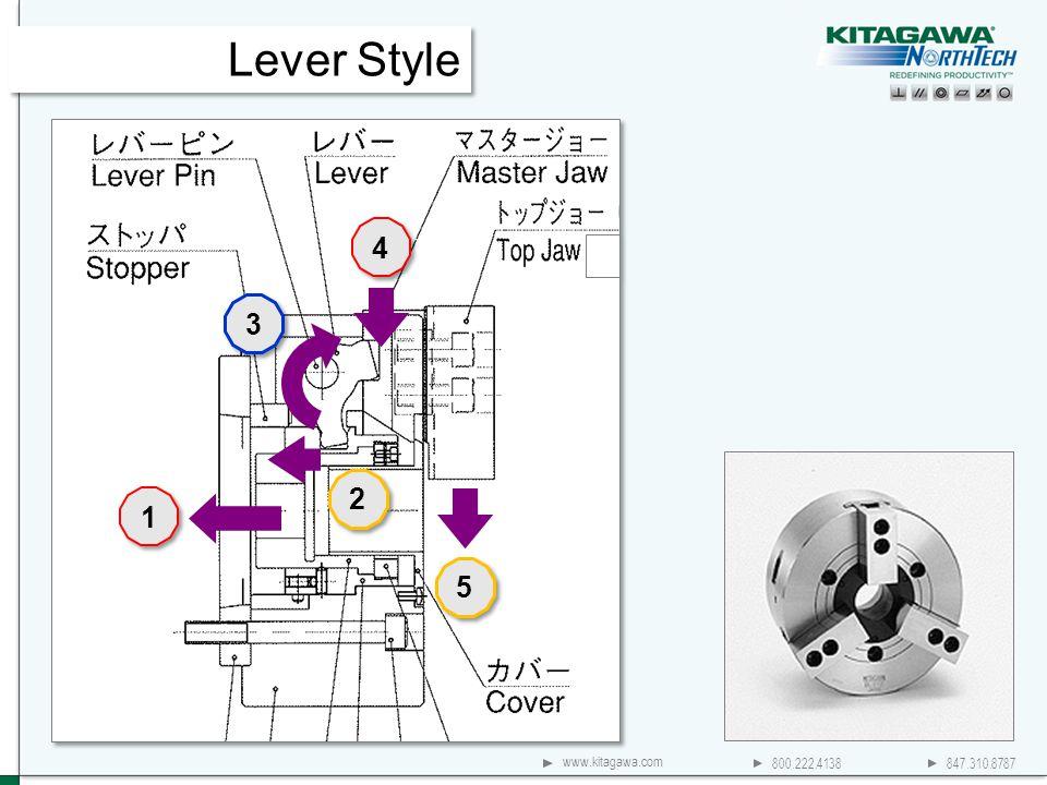 800.222.4138 847.310.8787 www.kitagawa.com Lever Style 4 4 1 1 2 2 5 5 3 3