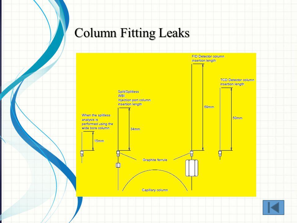 Column Fitting Leaks