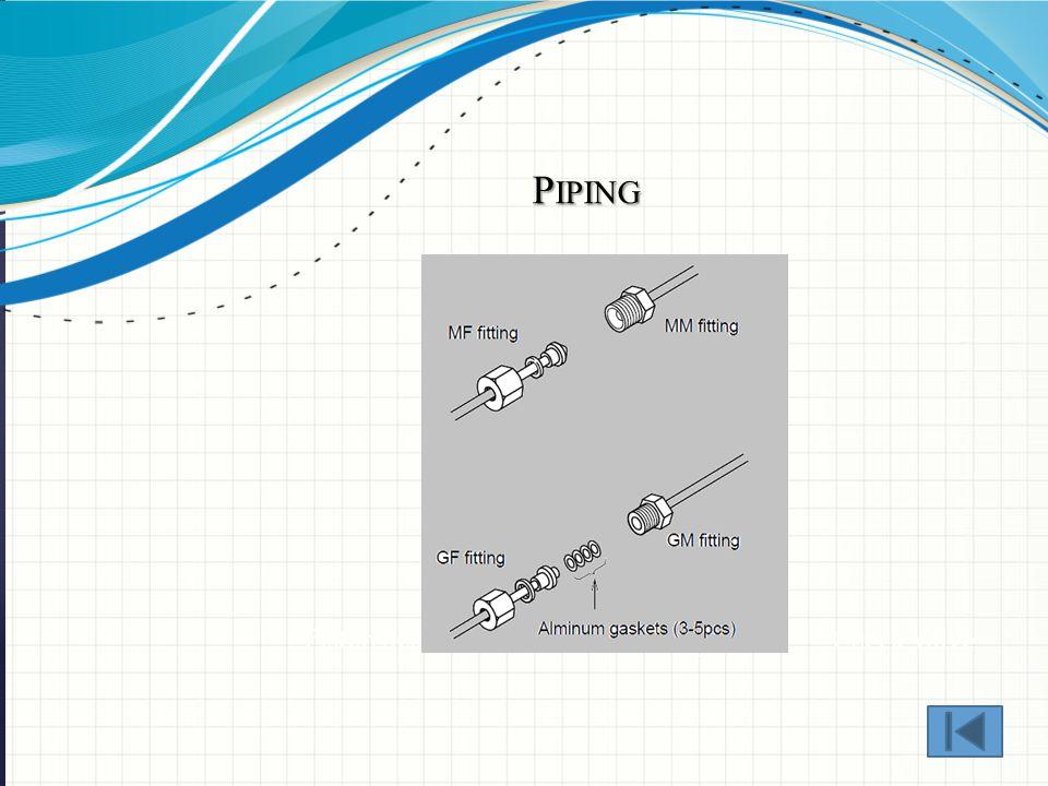 P IPING Piston Seal Tube Fitting Check Valve