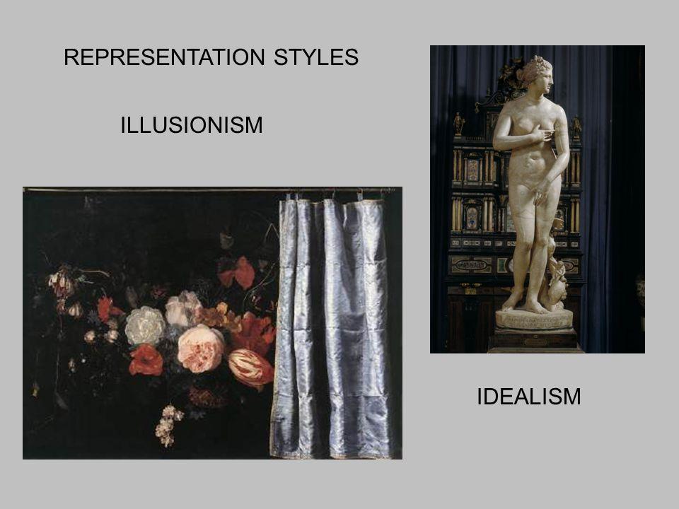 ILLUSIONISM IDEALISM REPRESENTATION STYLES