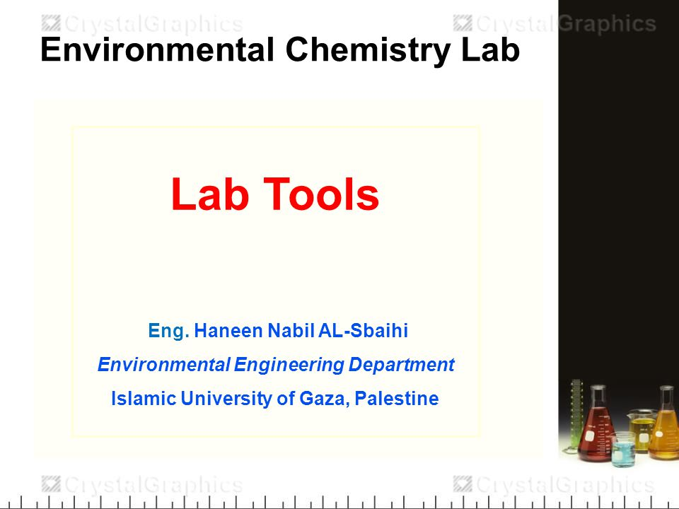 Environmental Chemistry Lab Lab Tools Eng.