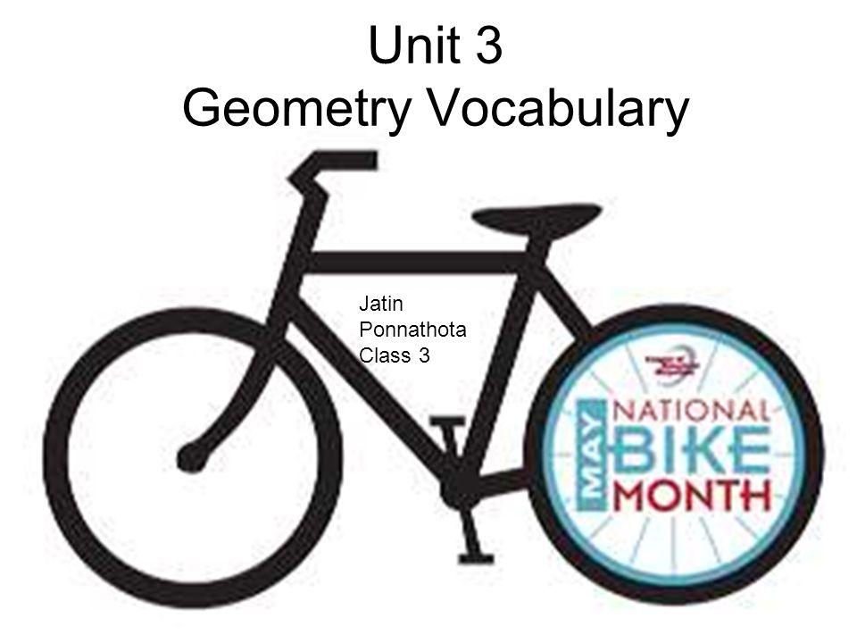 Unit 3 Geometry Vocabulary Jatin Ponnathota Class 3