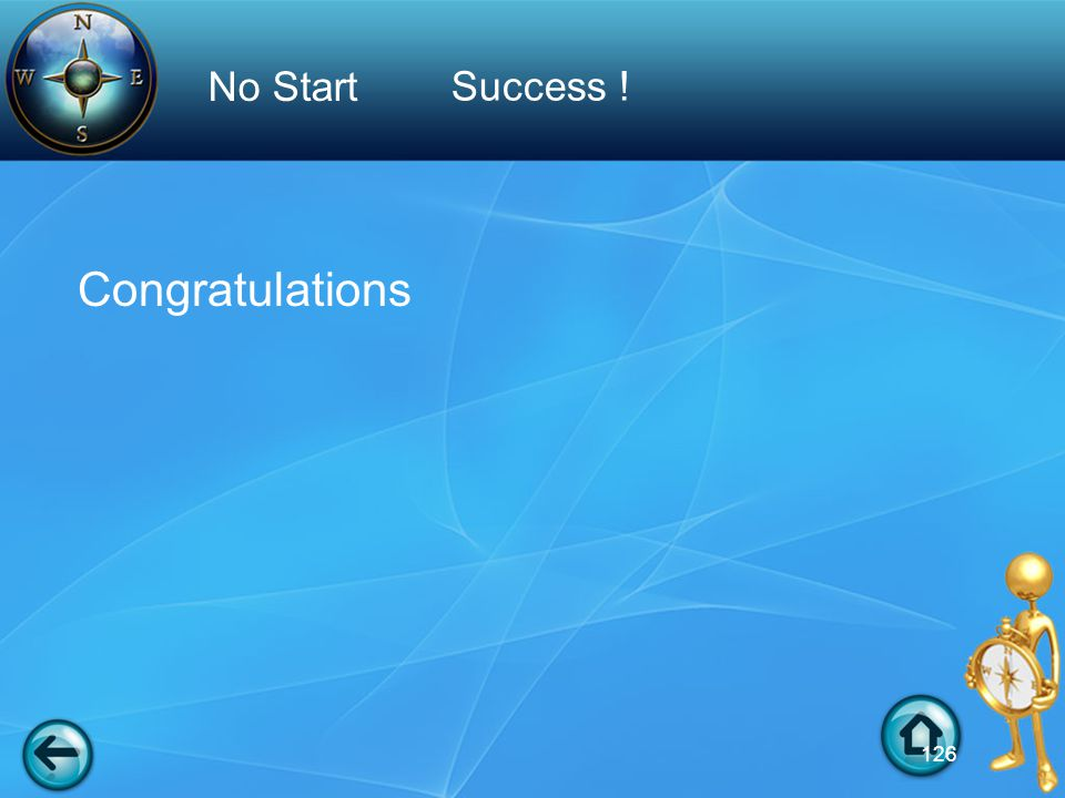 Congratulations Success ! No Start 126