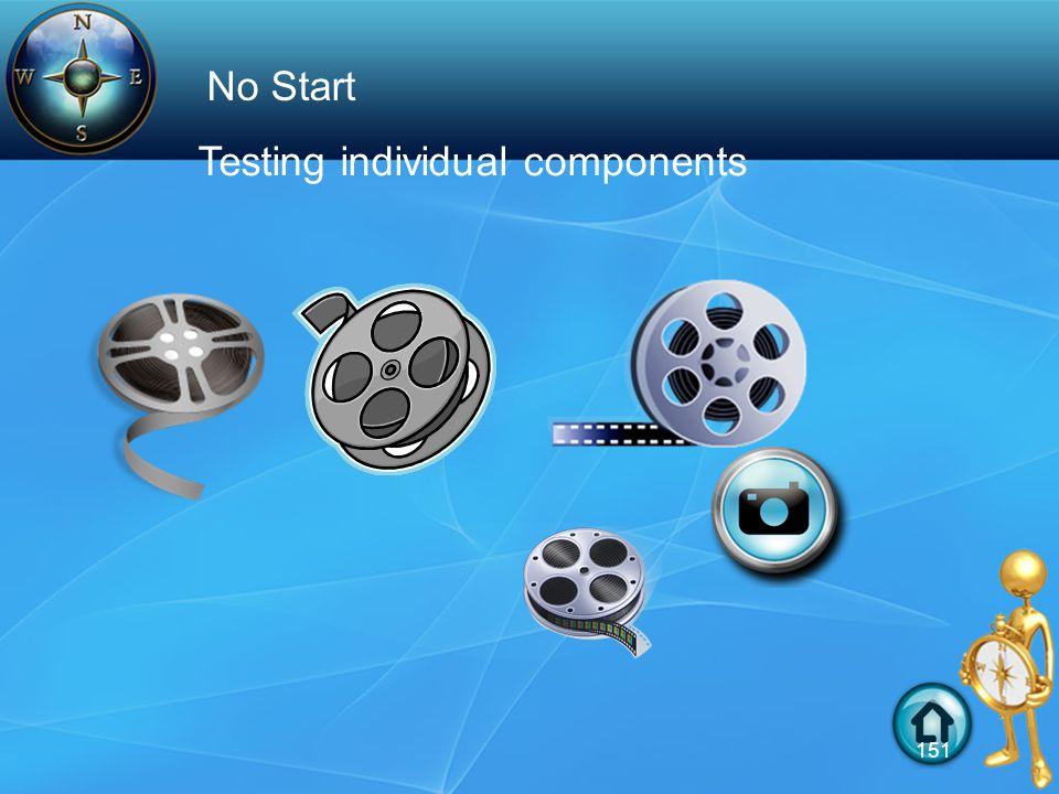 Testing individual components No Start 151